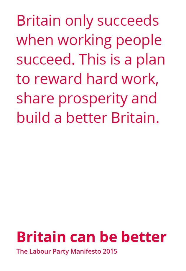 Labour Party Manifesto 2015 image