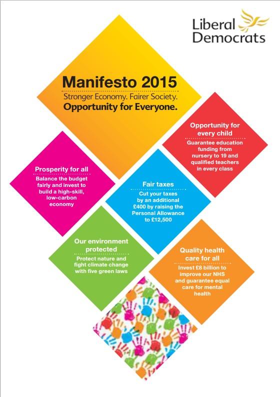 Liberal Democats Manifesto 2015 image