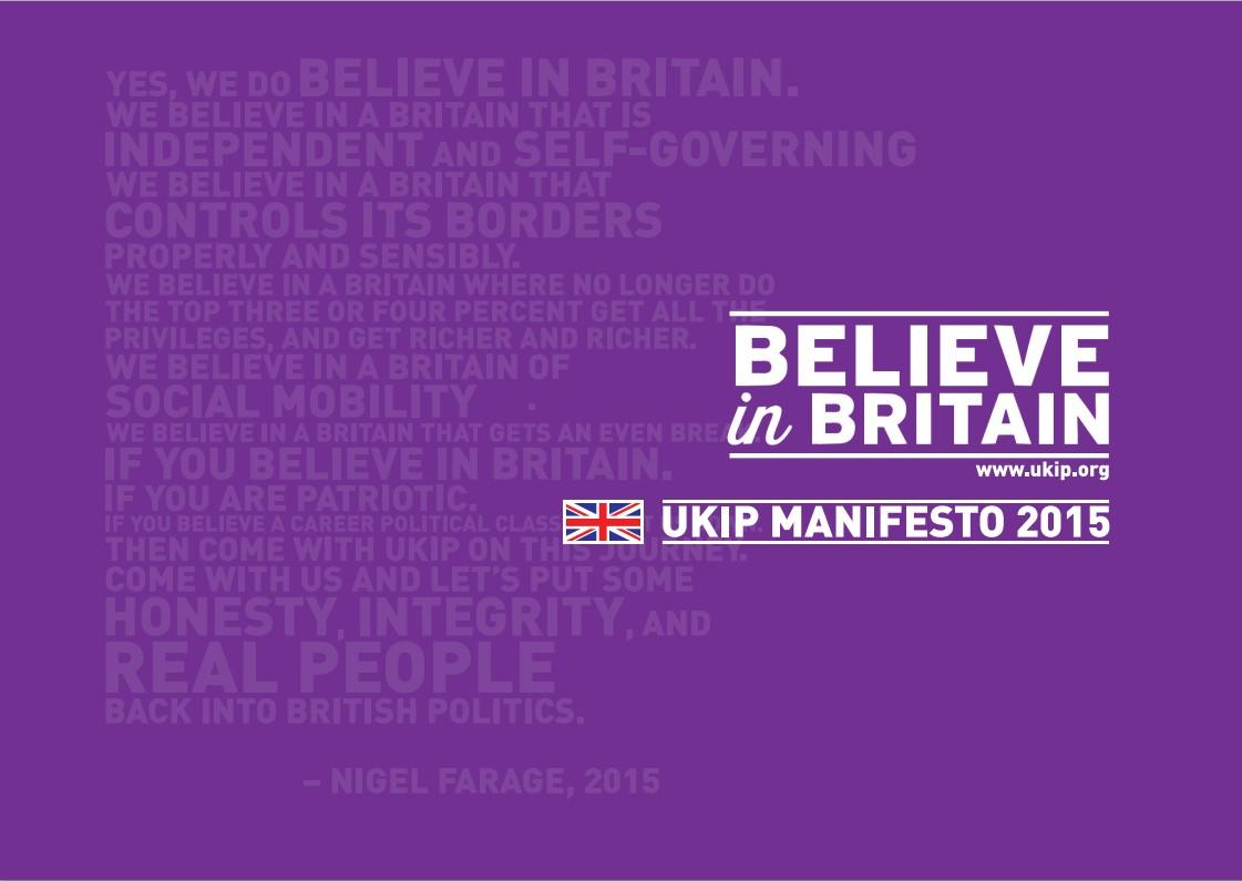 UKIP Manifesto 2015 image