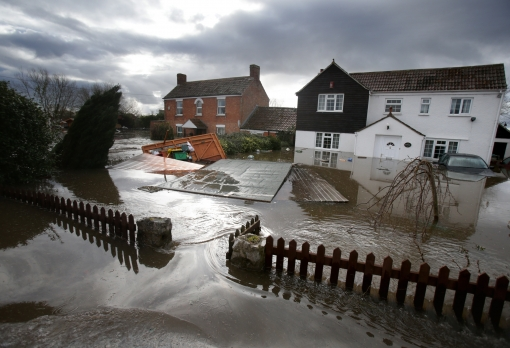 Flooding in UK Town