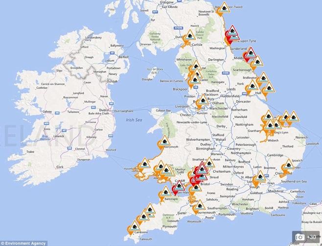 Rare 'Supermoon' threatened flooding along UK coastline