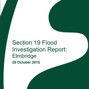 Cover of section 19 Elmbridge flood report