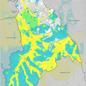 Susceptibility to groundwater Flooding in Croydon