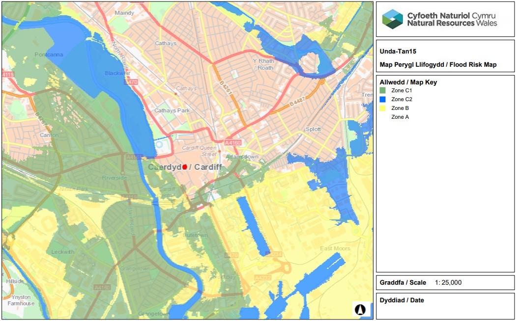 Flood Risk Map - Tan 15